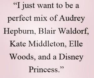 audrey hepburn, blair waldorf, and disney princess image
