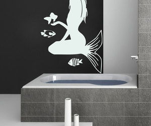 home decor, mermaid, and murals image