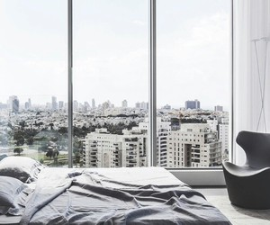 room, city, and bedroom image