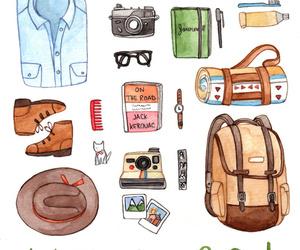 adventure, explore, and art print image