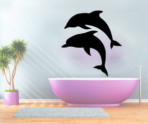dolphin, murals, and decals wall decor image