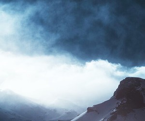 background, clouds, and snow image