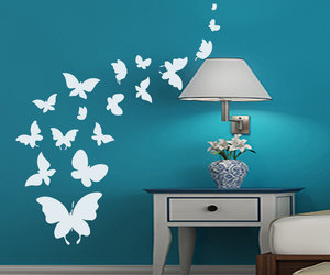 butterfly, home decor, and murals image