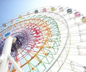 ferris wheel, colorful, and fun image