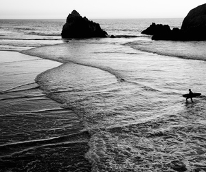 beach, black, and photography image