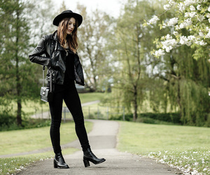 ankle boots, black, and hat image