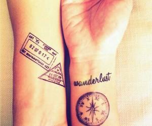 tatouage, wanderlust, and tattoo image