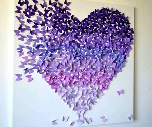 heart, purple, and art image
