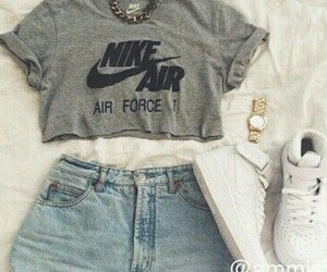 girly, nike, and outfit image