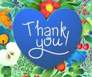 hearts and thank you image