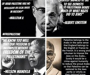 malcolm x, palestine, and a. einstein image