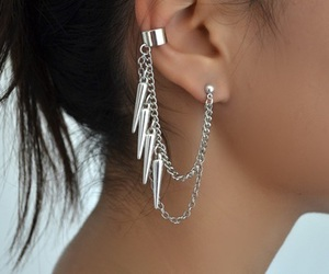 earring, fashion, and piercing image