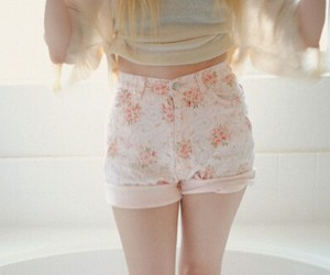 fashion, shorts, and floral image