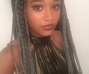 braids, couleur, and girl image