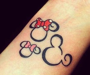 disney, tattoo, and family image