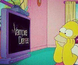 simpsons, one direction, and homer image