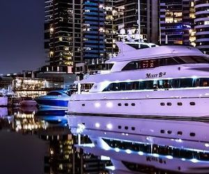 luxury, lights, and yacht image