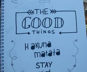 doodle, draw, and hakuna matata image