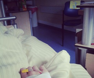 bed, sick, and hospital image