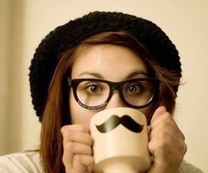 hat, moustache, and nerd image