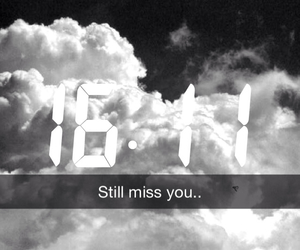 b&w, miss you, and snapchat image