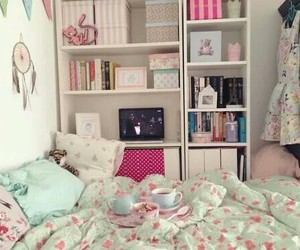 bedroom, fashion, and girl image