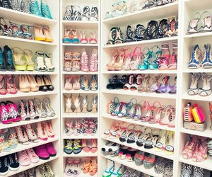 fashion, closet, and heels image