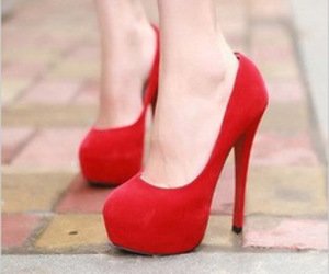 chaussure, red, and shoes image