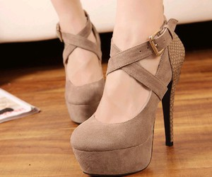 beige, shoes, and chaussures image