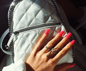 nails, bag, and pink image