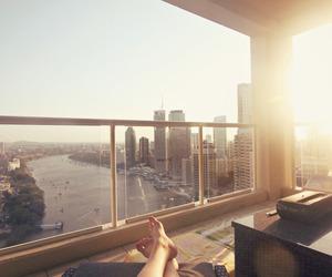 city, legs, and sun image