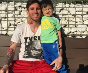 leo messi, thiago messi, and lionel messi image
