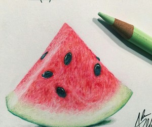 art and watermelon image