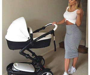 style, baby, and mom image