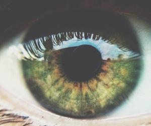 close, eyes, and green image