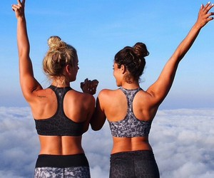 fitness, girl, and friends image