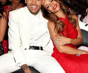 rihanna, chris brown, and couple image