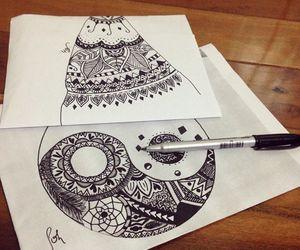 draw and ying yang image