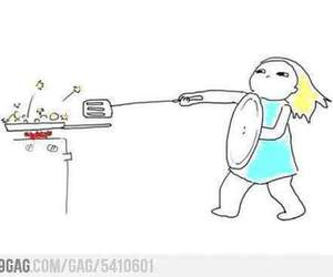 funny, kitchen, and cook image