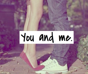 girl and boy, you and me, and love image