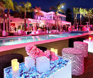 pink, pool, and house image