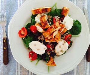 Chicken, healthy, and salad image