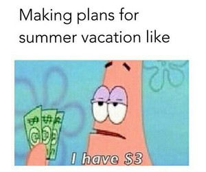 funny, patrick, and vacation image