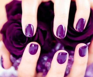 purple and nailpaint image