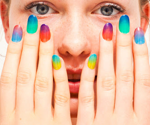 colourful and nailpaint image
