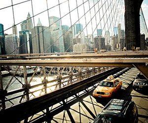 new york, city, and bridge image