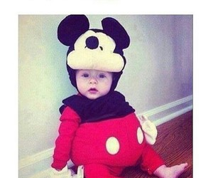 baby, cute, and mickey mouse image