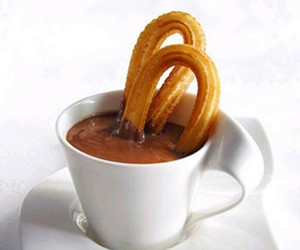 sweet, chocolate, and churros image