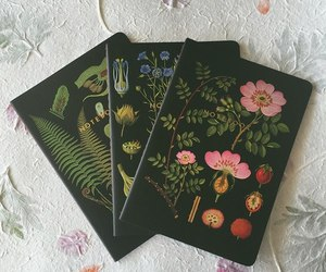 book, flowers, and flowery image