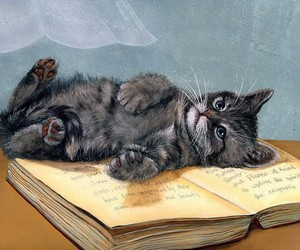 animals, book, and art image